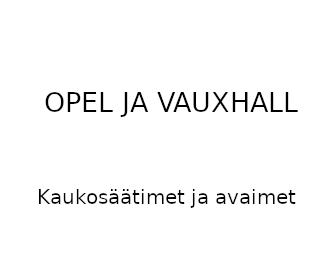 Opel ja Vauxhall